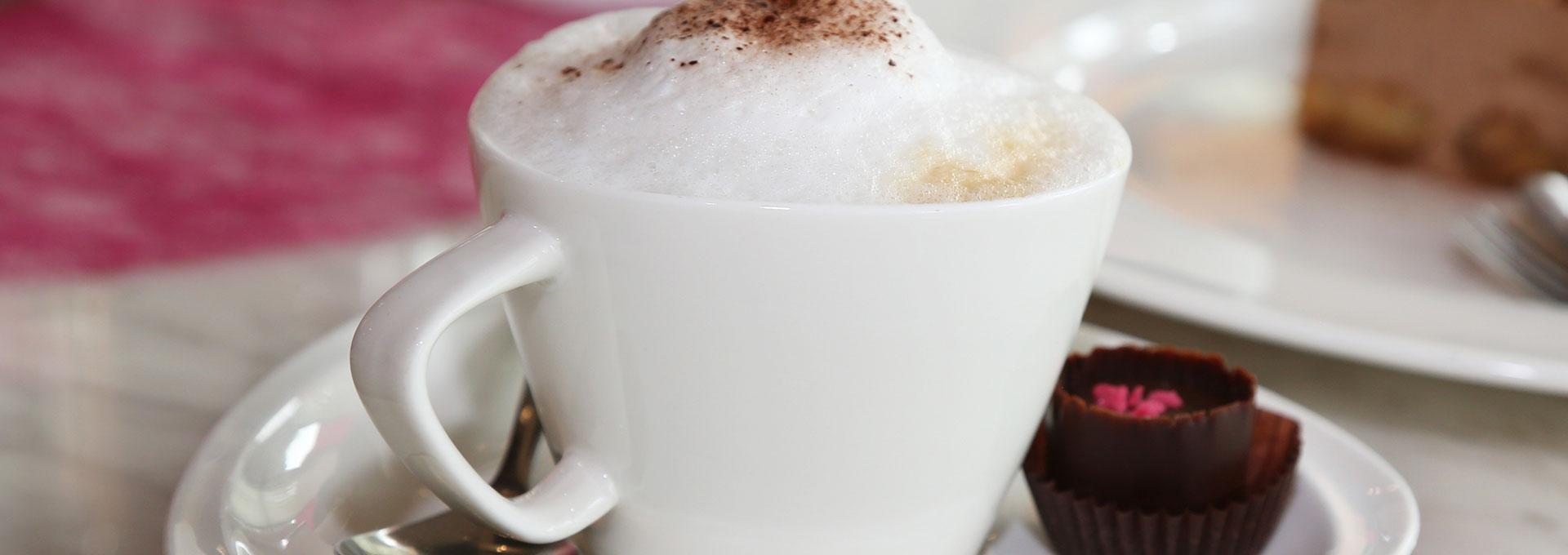 Kaffee aus dem Restaurant der Viba Erlebnis-Confiserie Dresden